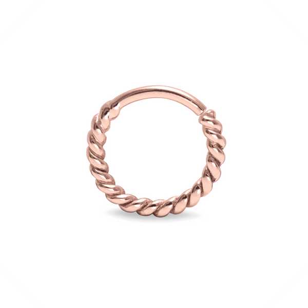 Odette Twisted Septum Ring 9k Rose Gold