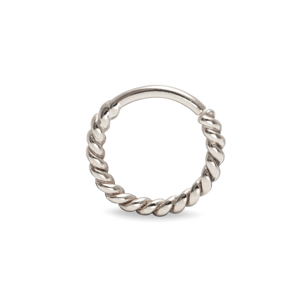 Odette Twisted Septum Ring 9k White Gold