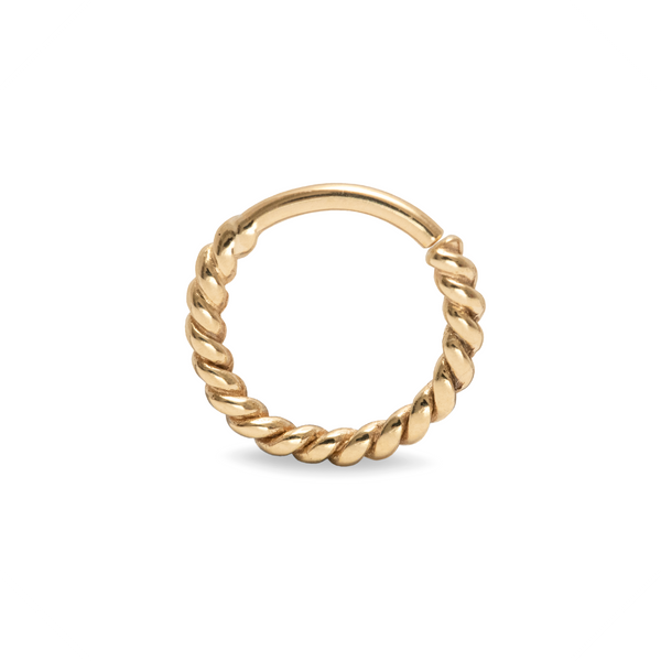 Odette Twisted Septum Ring 9k Yellow Gold