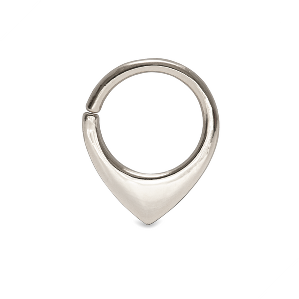 Mini Fin Septum Ring White Gold