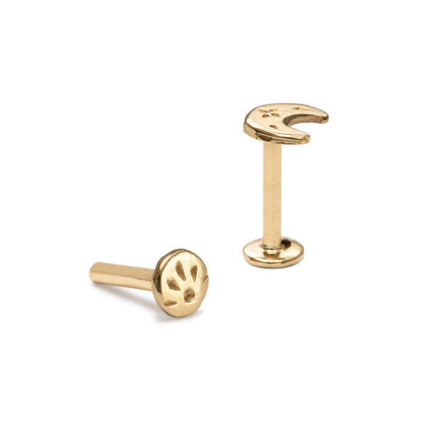 Trinity Push-Fit Labret Yellow Gold