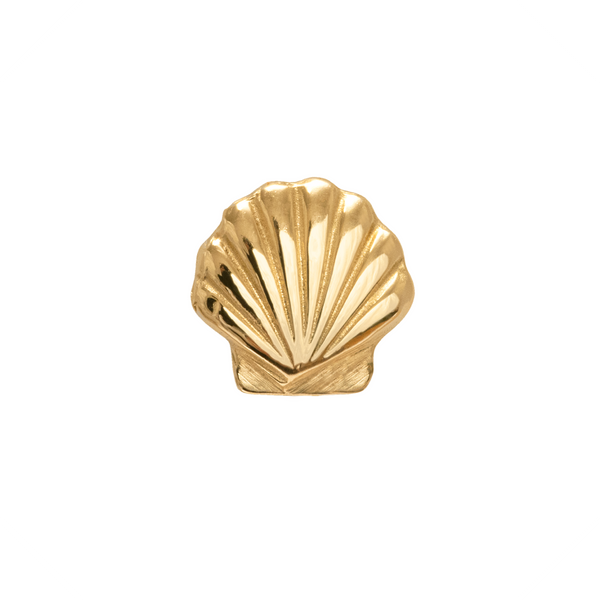 Cordelia Seashell Stud Earring 9k Yellow Gold