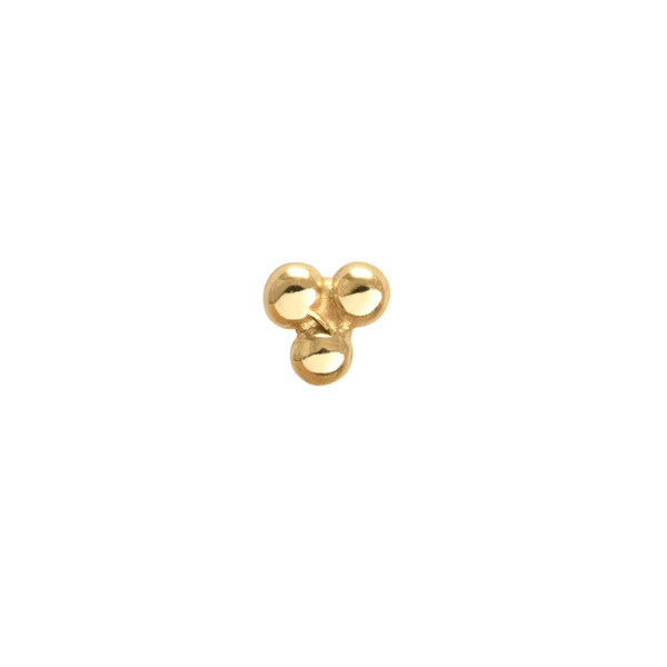 Trinity Nose Stud 9k Yellow Gold