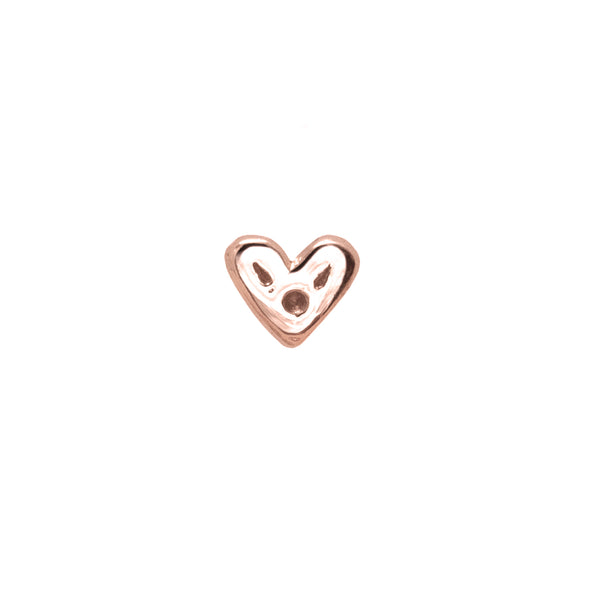 Itty-Bitty Heart Nose Stud 9k Rose Gold