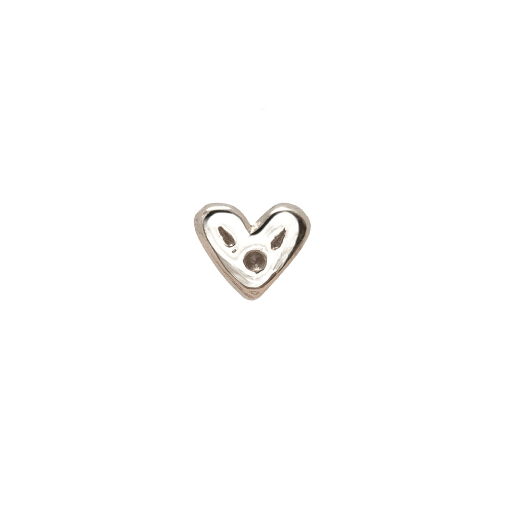 Itty-Bitty Heart Nose Stud 9k White Gold
