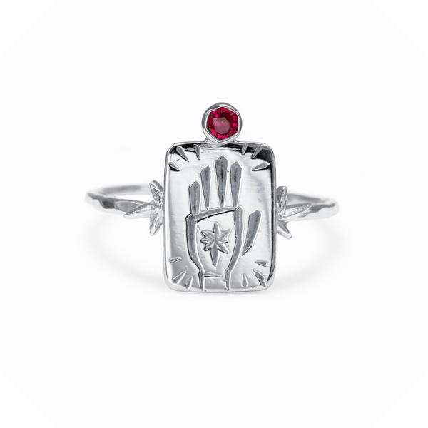 The Magician Gemstone Ring Sterling Silver