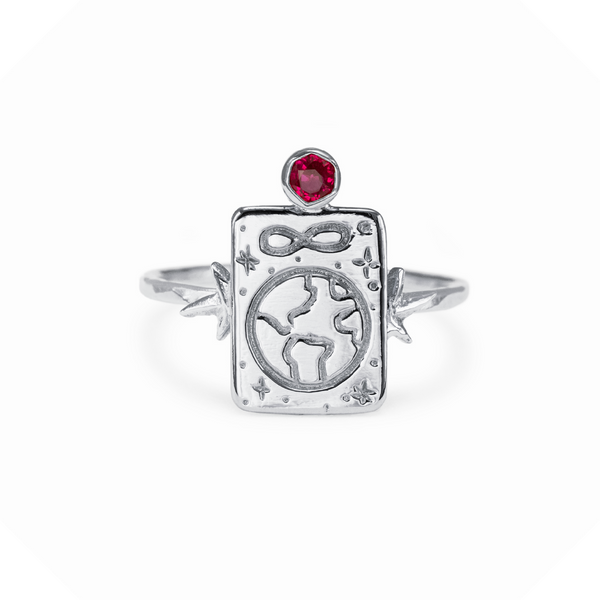 The World Gemstone Ring Sterling Silver