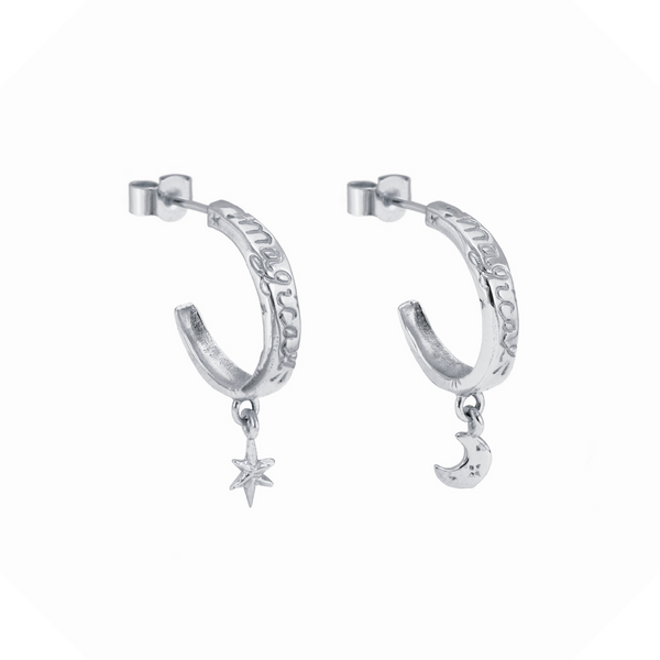 Enchanted Charm Earrings Sterling Silver