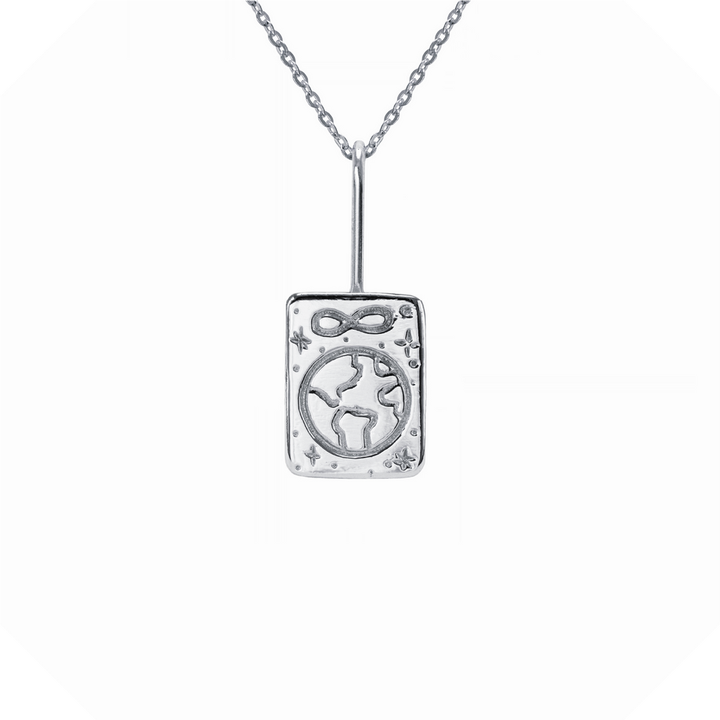 The World Tarot Necklace Sterling Silver