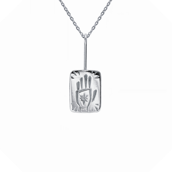 The Magician Tarot Necklace Sterling Silver