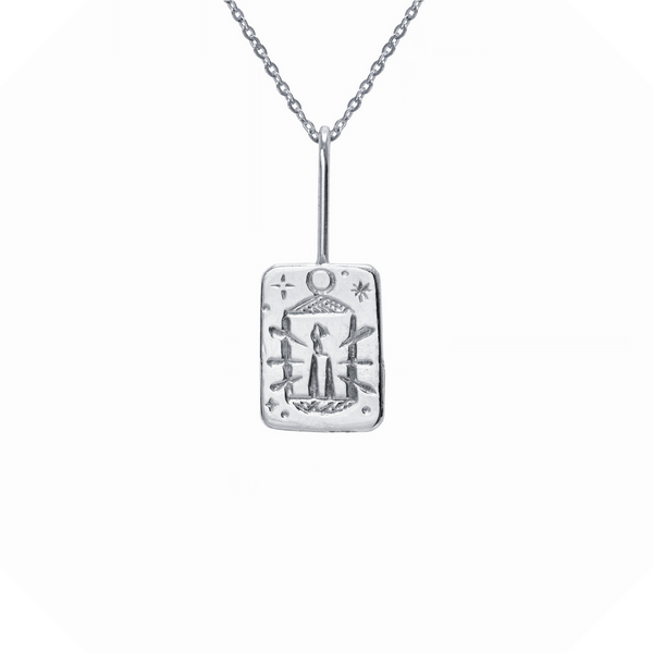 The Hermit Tarot Necklace Sterling Silver