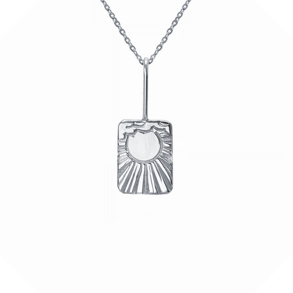 The Sun Tarot Necklace Sterling Silver