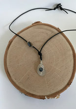 Load image into Gallery viewer, White Sea Glass & Onyx Necklace