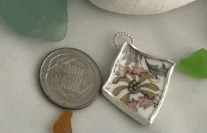Pink Flower China Pendant 3