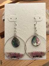 Load image into Gallery viewer, Abalone & Tourmaline Earrings