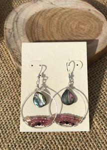 Abalone & Tourmaline Earrings