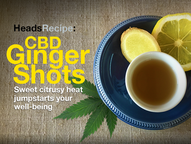HeadsRecipe: CBD Ginger Shots