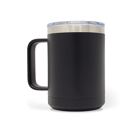 15 oz. Mug Handle Tumbler - Black