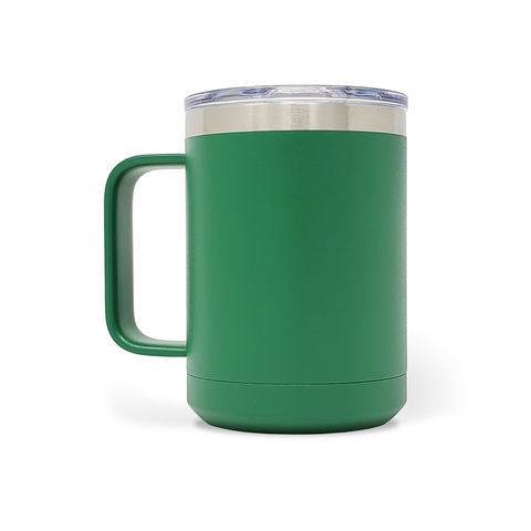 15 oz. Mug Handle Tumbler - Green