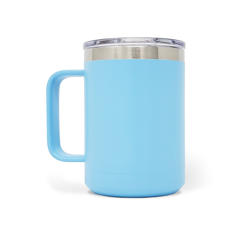 15 oz. Mug Handle Tumbler - Light Blue