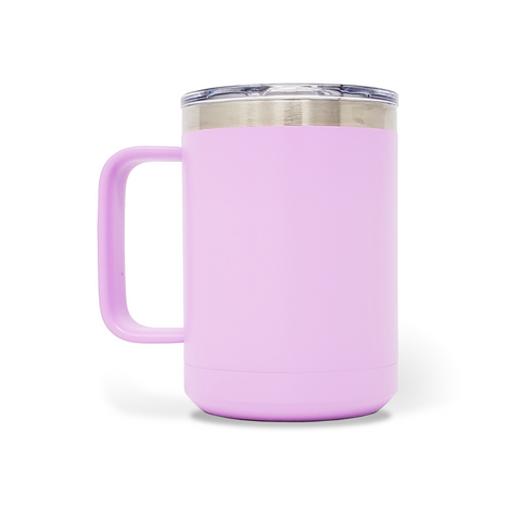 15 oz. Mug Handle Tumbler - Light Purple