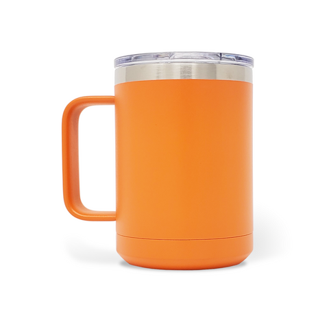 15 oz. Mug Handle Tumbler - Orange