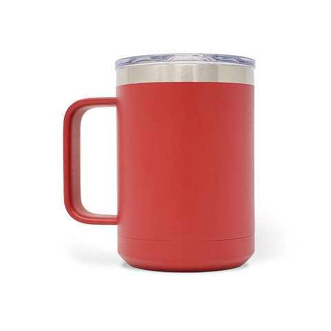 15 oz. Mug Handle Tumbler - Red