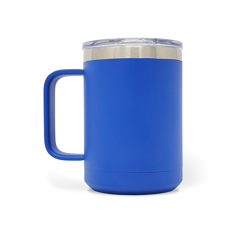 15 oz. Mug Handle Tumbler - Royal Blue
