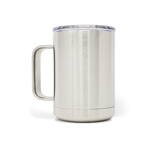 15 oz. Mug Handle Tumbler - Stainless Steel