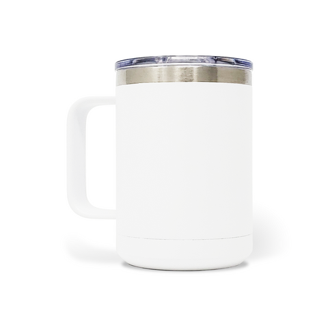 15 oz. Mug Handle Tumbler - White