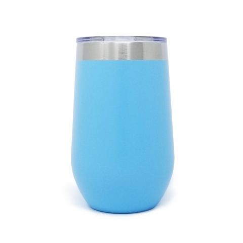 16 oz. Wine Tumbler - Light Blue