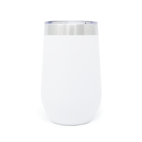 16 oz. Wine Tumbler - White