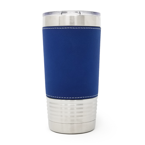 20 oz. Leatherette Tumbler - Blue (Black Engraving)