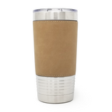 20 oz. Leatherette Tumbler - Light Brown (Black Engraving)