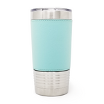 20 oz. Leatherette Tumbler - Mint (Black Engraving)