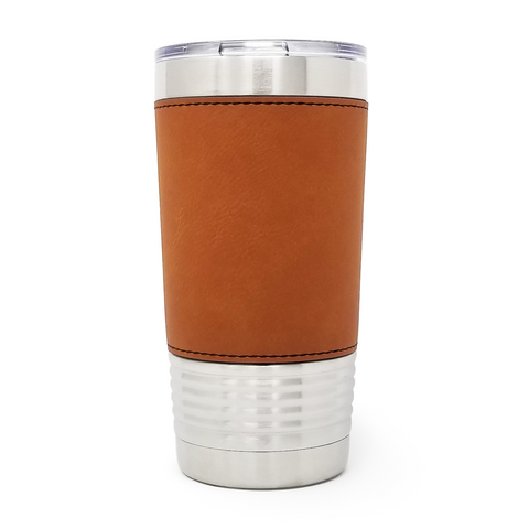 20 oz. Leatherette Tumbler - Rawhide (Black Engraving)