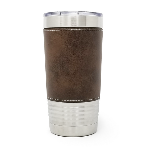 20 oz. Leatherette Tumbler - Rustic (Gold Engraving)