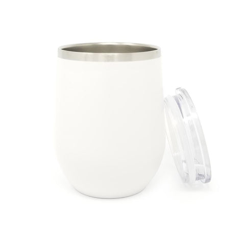 12 oz. Wine Tumbler - White