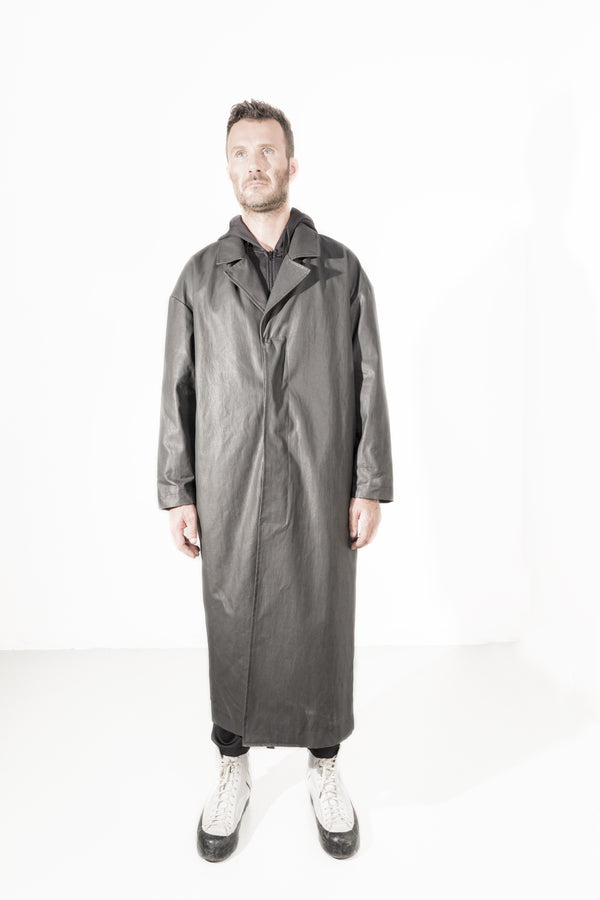 Waxed Long coat
