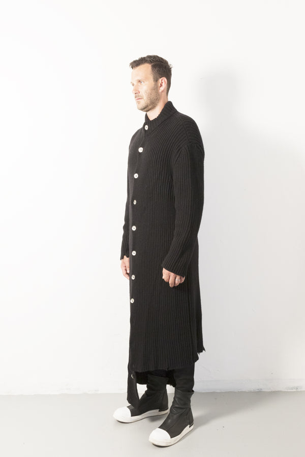 Wool Long Buttons Coat - Natural Born Humans Store