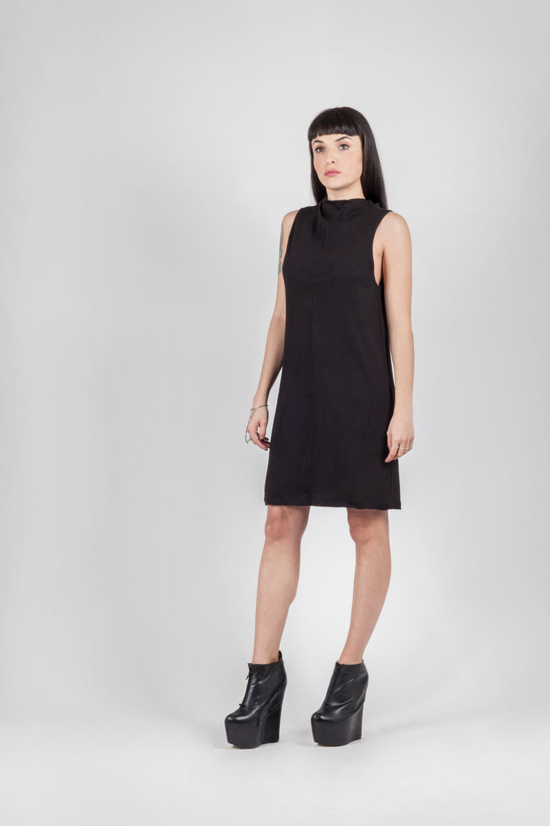Rib Collar Dress - Natural Born Humans Store