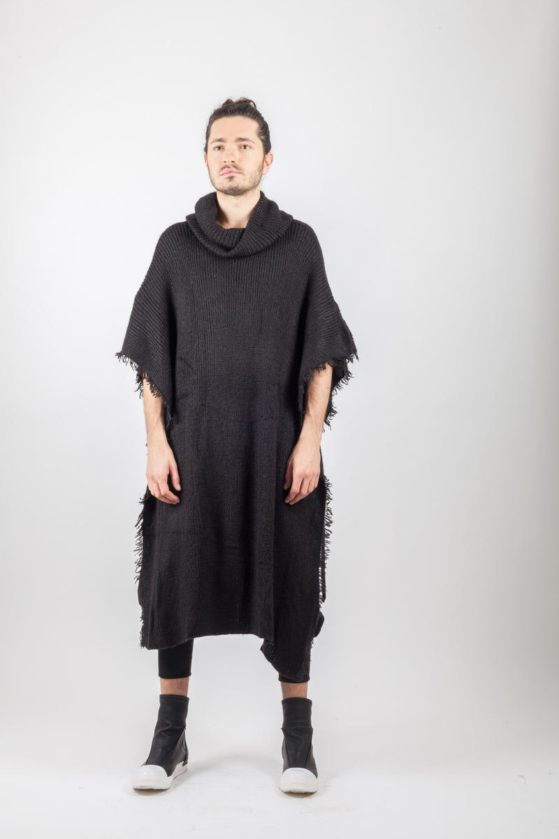 Wool Fringed Knitted Coat - Natural Born Humans Store