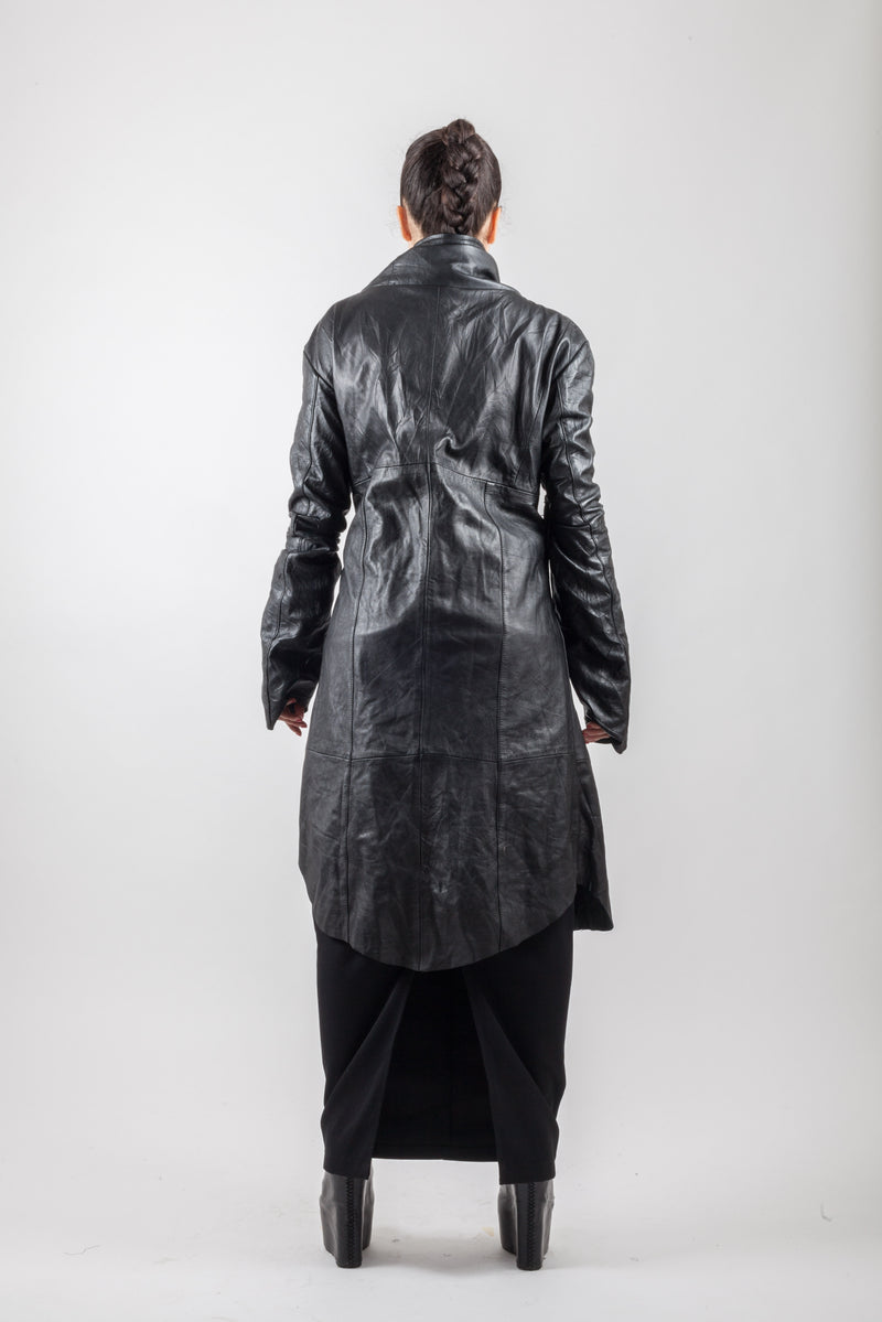 Leather skin Zip Coat - Natural Born Humans Store