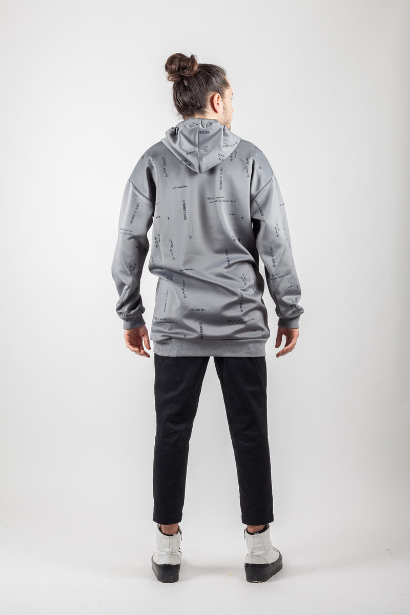 Grey over Sweatshirt - Natural Born Humans Store