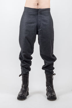 Pinstripe wool Pant - Natural Born Humans Store