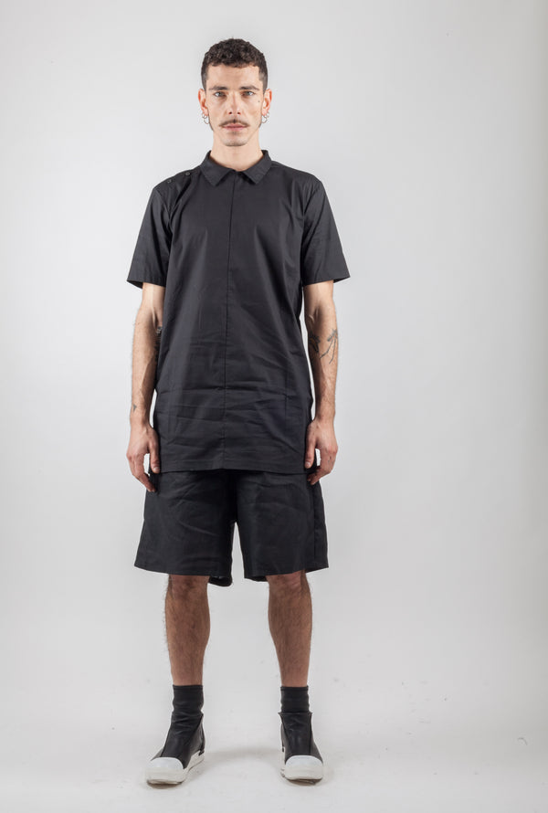 Contemporary black shirt - Natural Born Humans Store