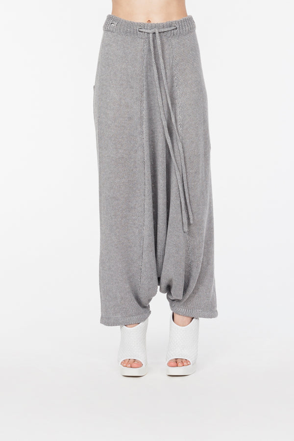 Loose knitted pant