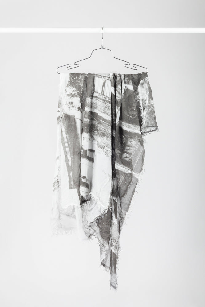 Black and white photography scarf - Natural Born Humans Store