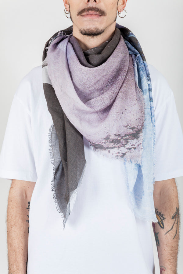 Purple grey whale scarf - Natural Born Humans Store