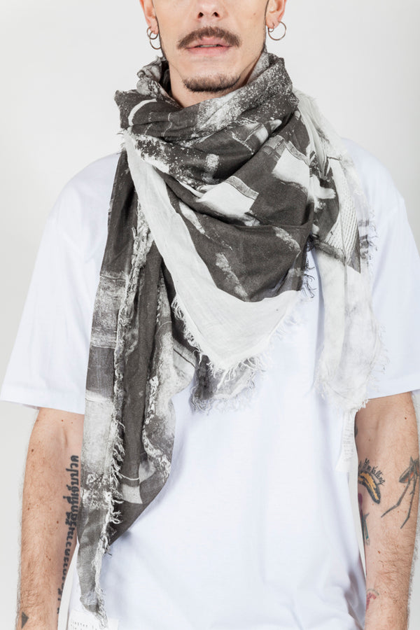 Black and white photography scarf